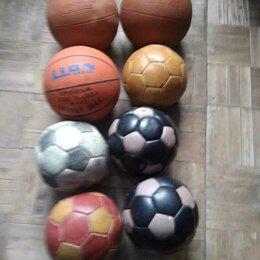 Мячи - Мячи кожаные футбольные, волейбольные и баскетбольные, 0