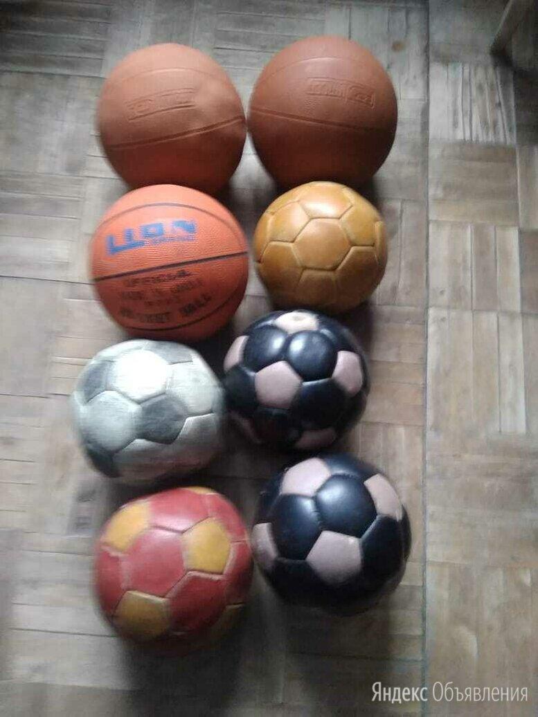 Мячи кожаные футбольные, волейбольные и баскетбольные по цене 1000₽ - Мячи, фото 0