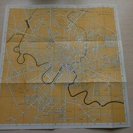 Гравюры, литографии, карты - Карта Москвы 1964 года. Москва схематический план. , 0