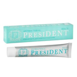 Зубная паста - Зубная паста President Antibacterial, 75 RDA, 75 мл, 0