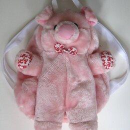 Рюкзаки, ранцы, сумки -  рюкзак-игрушка   Розовый поросенок, 0