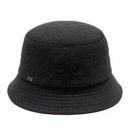 Головные уборы - Панама шляпа мужская плащевка утеплённая (черный), 0