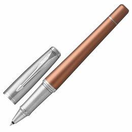 Канцелярские принадлежности - Ручка-роллер PARKER «Urban Premium Orange CT», корпус светло-коричневый, хромиро, 0