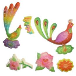 Скрапбукинг - Набор наклеек Павлины и цветы JN-718, 0