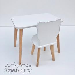 Столы и столики - Детский стульчик мишка и столик, комплект, 0