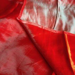 Ткани - Отрез ткани двусторонней красная с мятным отливом, 0