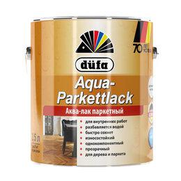 Масла и воск - Интерьерные лаки, масла DUFA DUFA Лак AQUA-PARKETTLACK паркетный шелковисто-м..., 0