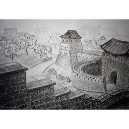 """Картины, постеры, гобелены, панно - Картина """"Крепость Хавасон, Корея"""", 0"""