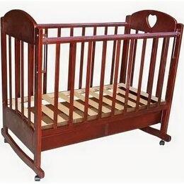 """Кроватки - Кроватка-качалка на колёсах""""Иришка""""массив берёзы, 0"""