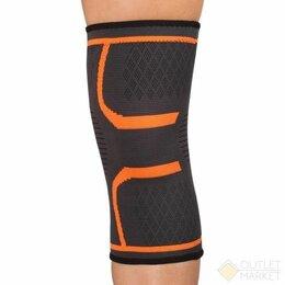 Устройства, приборы и аксессуары для здоровья - Суппорт колена эластичный INDIGO IN197 Черно-оранжевый, 0