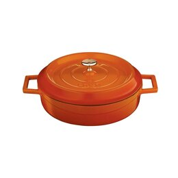 Кастрюли и ковши - Чугунная эмалированная кастрюля 24 см, 2,47 л, оранжевый, 0