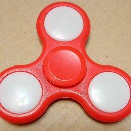 Игрушки-антистресс - Спиннер красный светящийся разноцветными цветами, 0