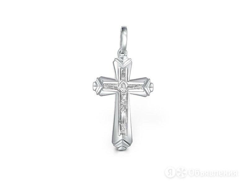 Крест из белого золота по цене 19984₽ - Кулоны и подвески, фото 0