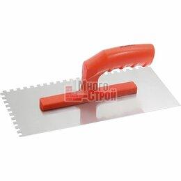 Принадлежности и запчасти для станков - Гладилка стальная, 280 х 130 мм, зеркальная полировка, пластмас. ручка, зуб 6 х , 0