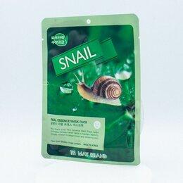 Маски - Маска тканевая с экстрактом муцина улитки May Island Real Essence Snail Mask Pac, 0