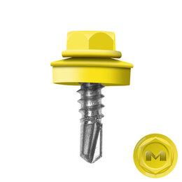 Шурупы и саморезы - Саморез кровельный DAXMER по металлу RAL1018 Желтый 5,5*19мм, 0