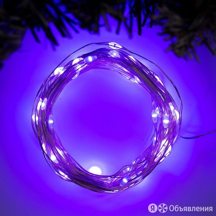 Гирлянда 'Нить' 10 м роса, IP20, серебристая нить, 100 LED, свечение фиолетов... по цене 503₽ - Новогодний декор и аксессуары, фото 0