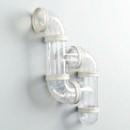 Игрушки и декор  - Лабиринт для грызунов 4, 6 элементов, прозрачный, 0