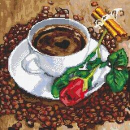 """Рукоделие, поделки и сопутствующие товары - Алмазная мозаика набор """"Кофе и красная роза"""", 0"""