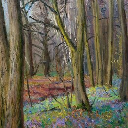 """Картины, постеры, гобелены, панно - картина маслом """"Лес в конце апреля"""", 0"""