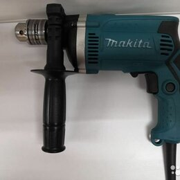 Дрели и строительные миксеры - Дрель ударная makita hp1630kx2 710 вт, 0