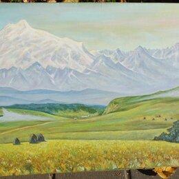 Картины, постеры, гобелены, панно - картина Поля и горы,горы и поля,холст,масло,, 0
