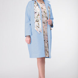 Сборные модели - Комплект 913 DELUIZ N небесный голубой + бледно-голубой «цветы» Модель: 913, 0