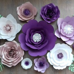 Искусственные растения - Бумажные цветы. Цветы из бумаги, 0