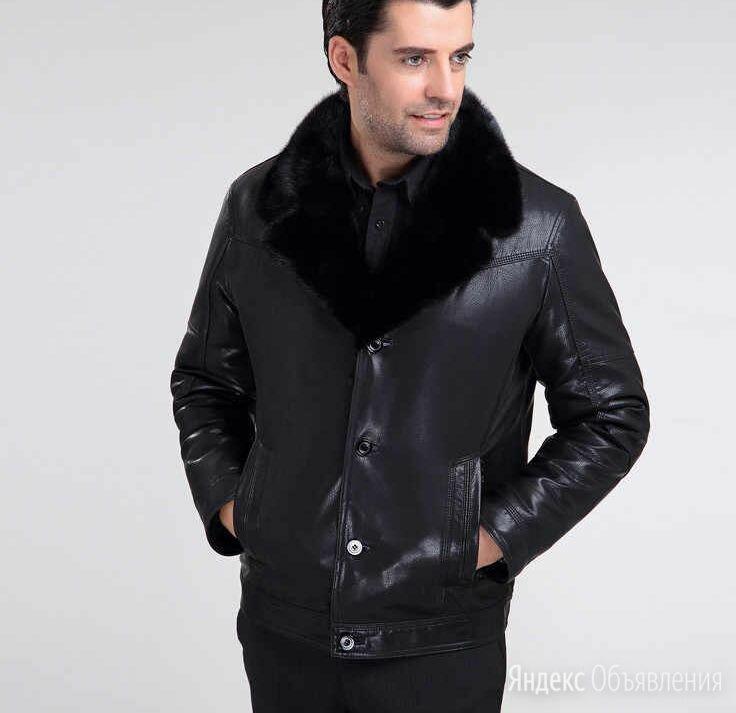 Куртка кожаная мужская зимняя по цене 5500₽ - Куртки, фото 0