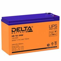 Электроустановочные изделия - Аккумулятор для электромобиля Delta 12/34 HR, 0