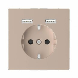 Кабели и разъемы - Розетка компьютерная USBx2 Schneider Electric Merten D-Life MTN2366-6051, 0