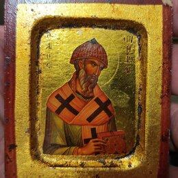 Иконы - икона Святитель Спиридон Тримифунтский ,Греция, 20 век, 0