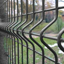 Заборы, ворота и элементы - Панель для забора 3д 1,43х2,5м  шоколад, 0