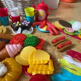 Игрушечная еда и посуда - Набор продуктов игрушечные в сумке 140шт., 0