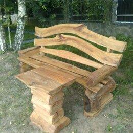 Банкетки и скамьи - Скамейка и столик массив дуба, 0
