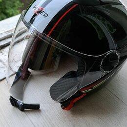 Шлемы - Шлем мото hizer 217 (m) черный, 0