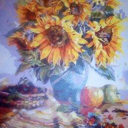 Картины, постеры, гобелены, панно - картина натюрморт  ваза с подсолнухами, 0