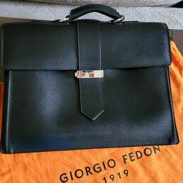 Портфели - Мужской кожаный портфель Giorgio Fedon, 0