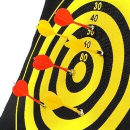 Дартс - Дартс магнитный, двухсторонний, дротики 6 штук, 0