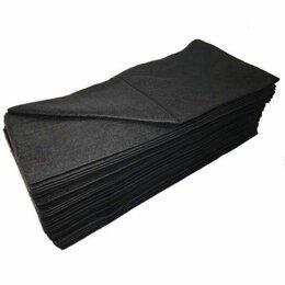 Полотенца - Полотенце малое «White Line» 35*70 пачка черный спанлейс (50 шт), 0