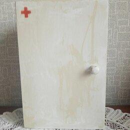 Настенные ключницы и шкафчики - Аптечка СССР(деревянная), 0