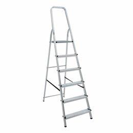 Лестницы и стремянки - Стремянка алюминиевая 6 ступеней «Новая Высота», 0