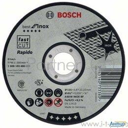 Для шлифовальных машин - Круг отрезной Bosch Best For Inox 125x0,8x22по нерж. (2.608.603.488)  125 Х 0..., 0