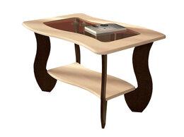Столы и столики - Журнальный стол с прямоугольным стеклом №3, 0