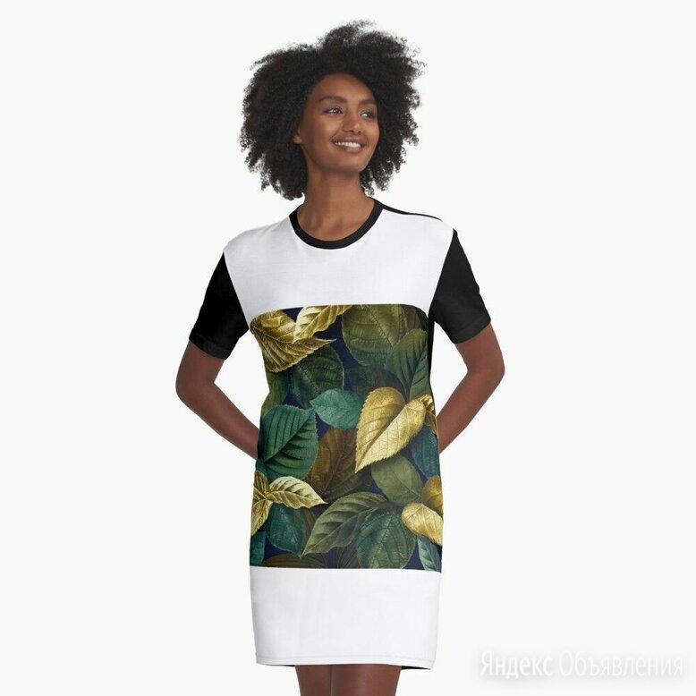 платьях-футболках с рисунком представлен  от независимого художника. по цене 3526₽ - Футболки и топы, фото 0