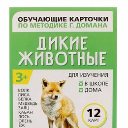 """Обучающие материалы и авторские методики - Обучающие карточки """"Дикие животные"""", 0"""
