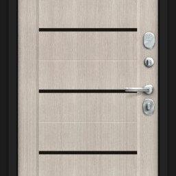 Входные двери - Дверь входная Борн 117.М22 Лунный камень/Cappuccino Veralinga, 0