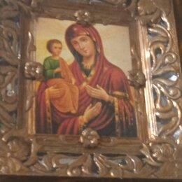 Иконы - Икона божией матери троеручица иоанн дамаскин продам, 55.000 рублей, 0