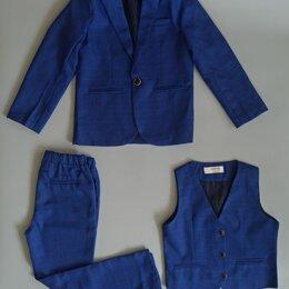 Комплекты и форма - Костюм классический синий для мальчика (10,12 лет), 0