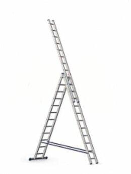 Лестницы и стремянки - Лестница 3-х секц.алюмин. 3,38 м 3х12  5312 Alumet, 0